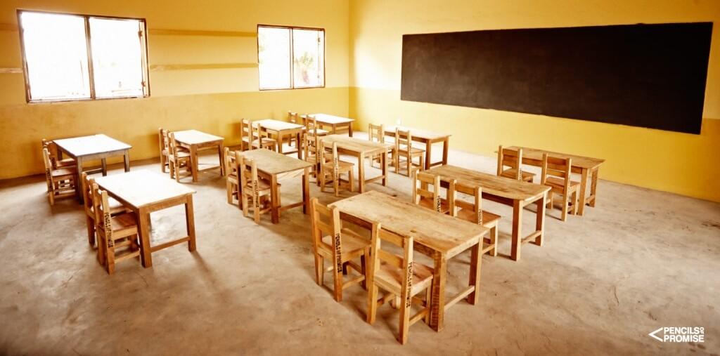 Klassenzimmer in Ghana